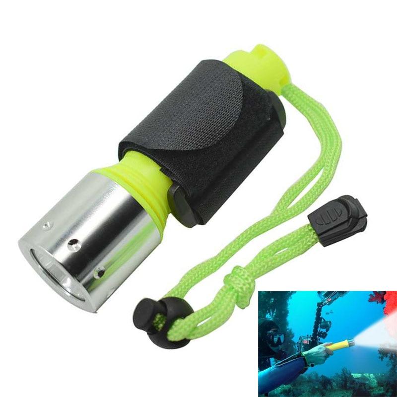 WasaFire potente linterna LED XM-L T6 para buceo, linterna, lámpara de buceo, linternas subacuáticas, impermeables, 1600LM, 18650 para pesca
