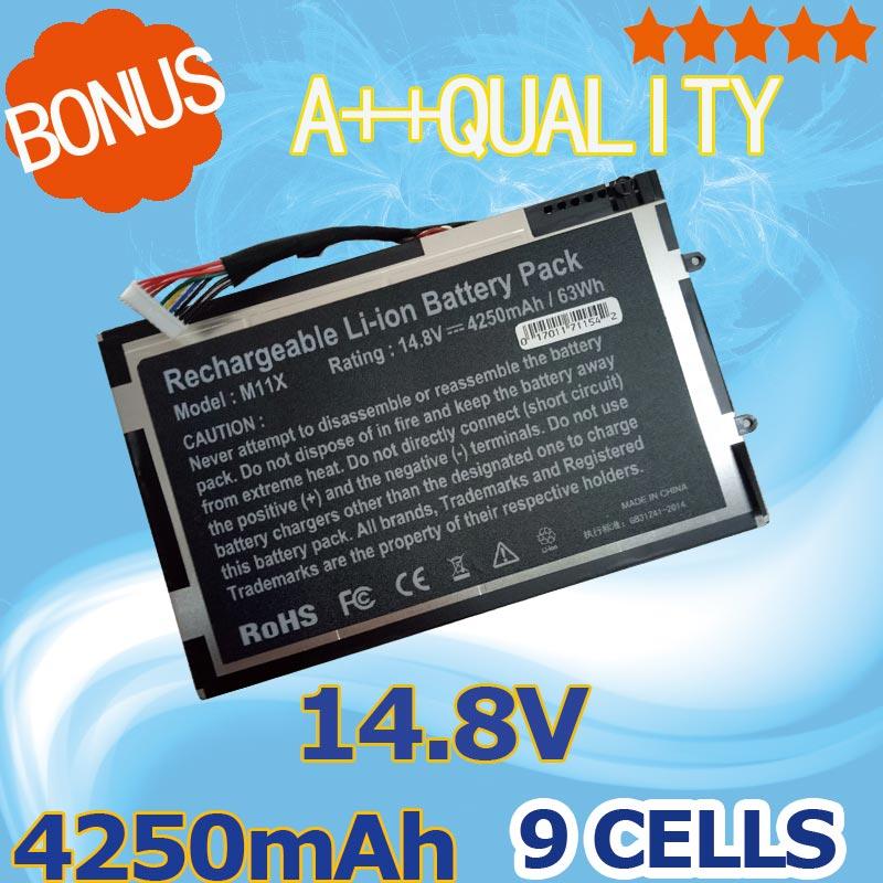 14,8 V 4250mAh batería del ordenador portátil para Dell Alienware M11X R1...
