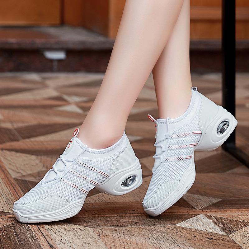Teachers Shoes Practice Square Dance Shoes Female Breathable Mesh Sports Shoes Aerobics Soft Bottom