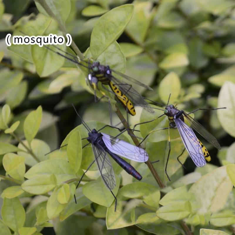 2 шт. игрушечный комар, специальная реалистичная модель, имитация насекомых, игрушка для питомцев, Обучающие игрушки, украшение сада, магнит ...