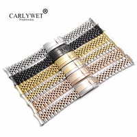 carlywet 19 20mm wholesale hollow curved end solid screw links steel replacement jubilee watch band bracelet for datejust