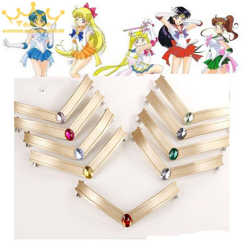 Diadema Eva japonesa Sailor Moon Tsuking Usagi Sailor Mars Chibi Júpiter diadema Tiara 25 aniversario Cosplay accesorio