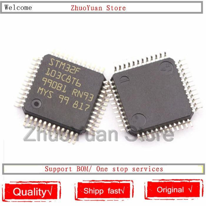 1PCS/lot STM32F103C8T6 STM32 F103C8T6 LQFP-48 64K New original IC chip