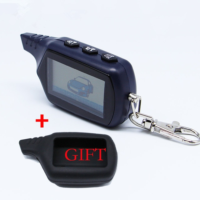 NFLH брелок B9 ЖК-пульт дистанционного управления для двухсторонней автомобильной сигнализации B9 брелок для ключей авто совместимый starline B9