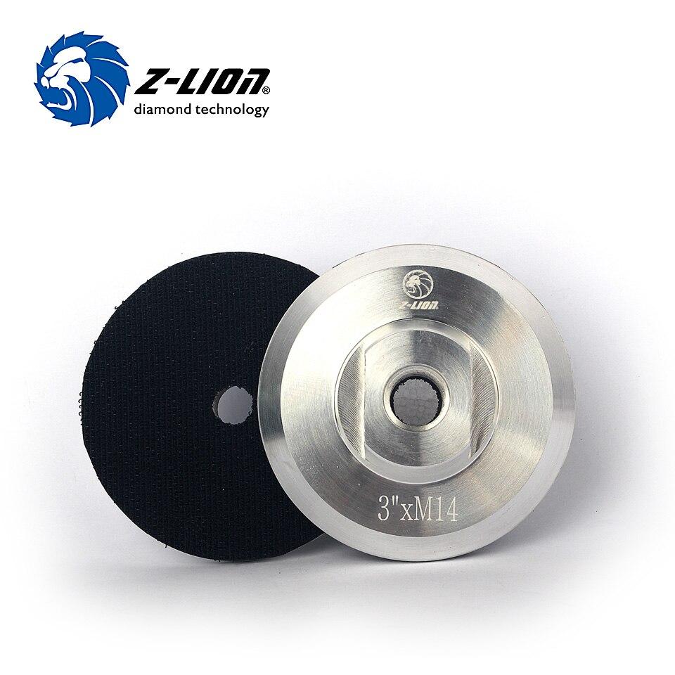 """Almohadilla de respaldo de aluminio Z-LION 3 """"80mm M14 5/8-11 soporte de respaldo para pulidora almohadillas de pulido autosujetables para amoladora de ángulo trasero"""