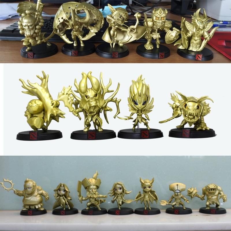 Figuras de acción de Golden Dota 2, 16 estilos, oficial limitada colección Global, figura de acción de juegos en caja de PVC, juguetes de dota2