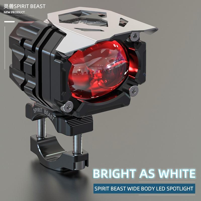 CFMOTO-ملحقات إضاءة دراجة نارية ، مصباح كشاف LED ، مصباح ستروب مساعد عالمي للدراجات النارية على الطرق الوعرة