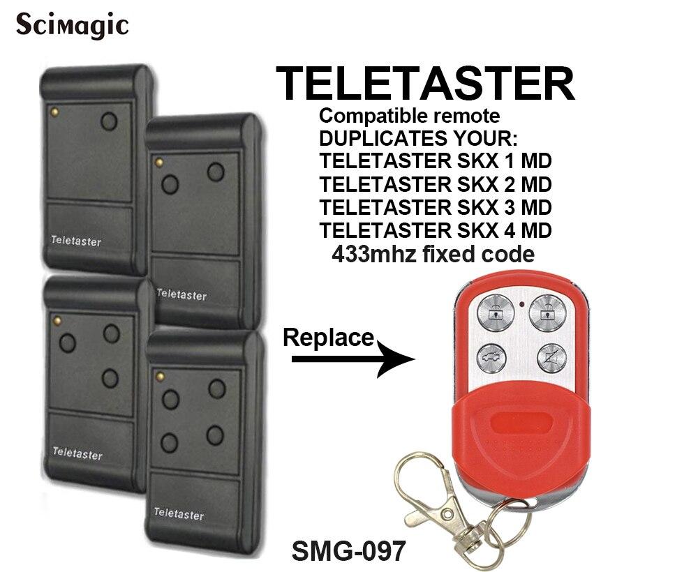 ¡Novedad de 2020! controlador de puerta Teletaster skx1md skx2md skx3md skx4md reemplazo clon de control remoto 433,92 mhz código fijo