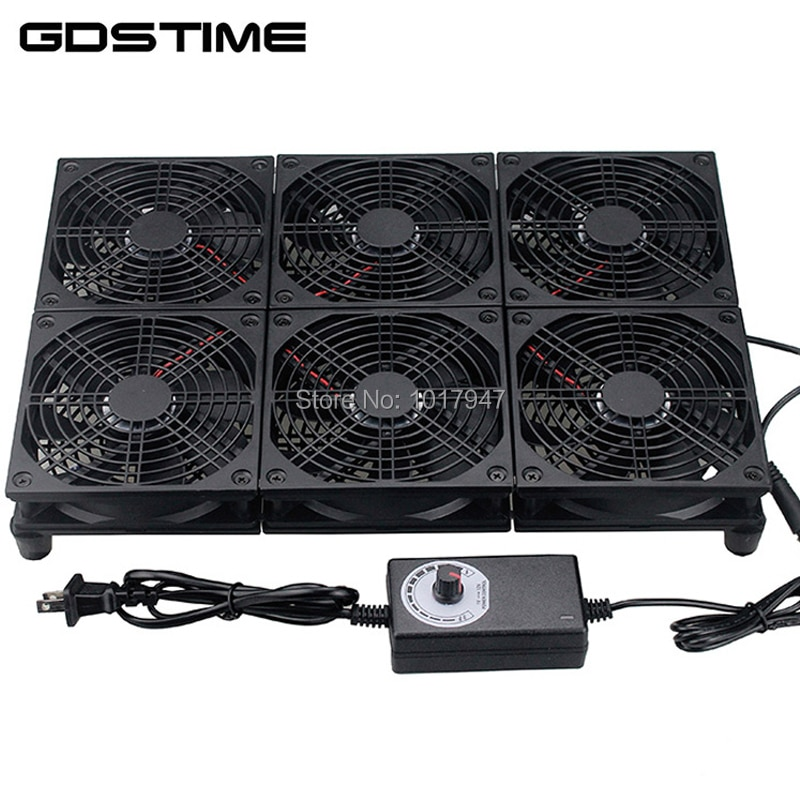 TV Set Top Box Router Modem de fibra 120 milímetros de Alta Velocidade Silenciosa 6 Base de Fãs Laptop Cooler Stand Suporte Do Radiador para NETGEAR R8500