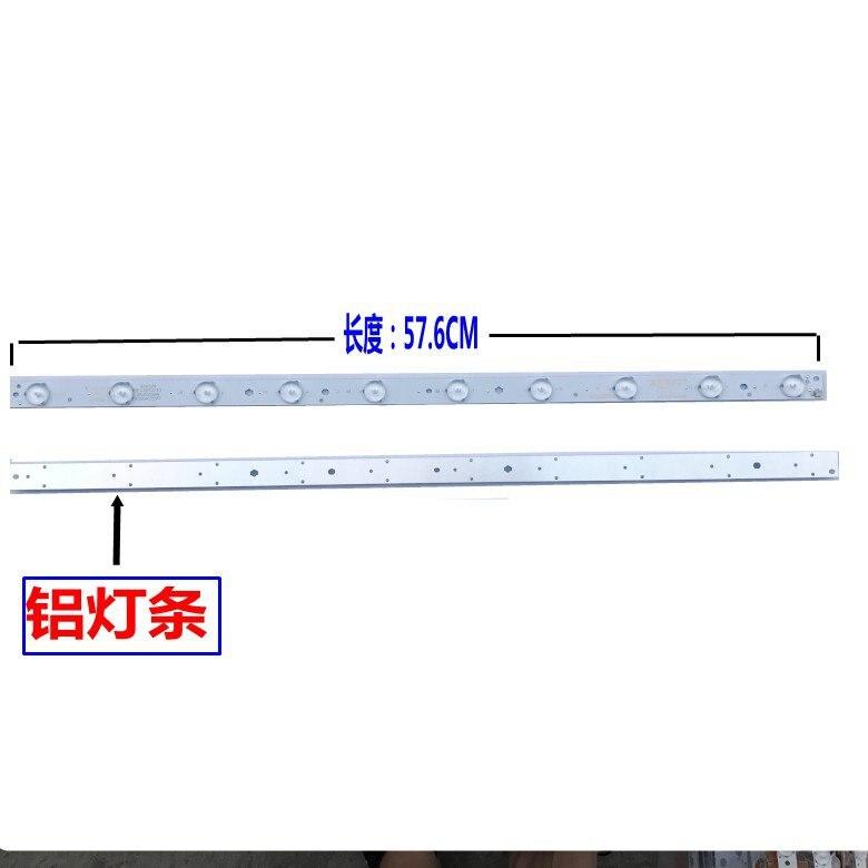 40 قطعة/المجموعة LED قطاع E348423 KJ315D10-ZC14F-03-02 303KJ315031 D227PGHBYZF6A 10 المصابيح 570 مللي متر