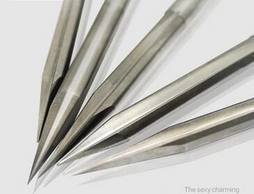 Envío Gratis, 10 piunids/lote 3.175*20*0,3mm dos brocas afiladas rectas, doble línea recta V afilados endmolinos