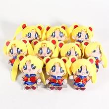 Sailor Moon Tsukino Usagi / Sailor Chibi Moon Chibi Usa Kawaii Plush Dolls Soft Stuffed Pendants Toys 10pcs/lot