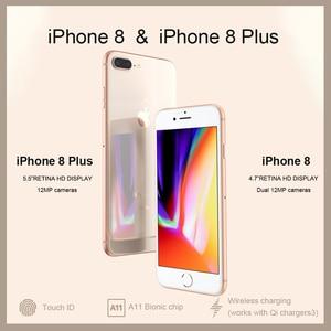 Разблокированный новый оригинальный Apple iPhone 8/8 Plus TouchID 4G LTE iOS 12 МП камера 4,7/5,5