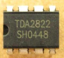 مضخم طاقة مزدوج منخفض الجهد TDA2822 TDA2822M, موصل DIP-8 IC ، 500 قطعة