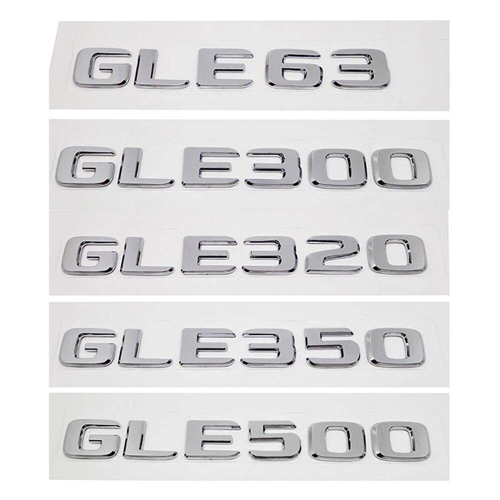 De reequipamiento de coche decoración insignia trasera para Mercedes-Benz GLE63 GLE300 GLE320 GLE350 GLE500 pegatinas de plástico W166 W 123 3D estilo