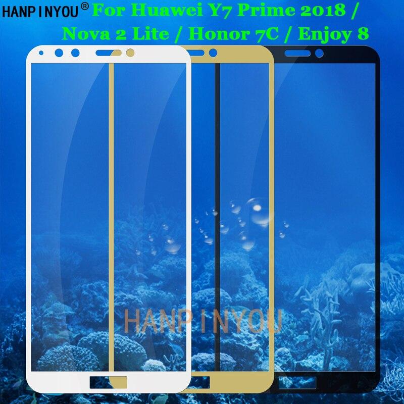 For Huawei Y7 Prime 2018 / Nova 2 Lite / Honor 7C / Enjoy 8 Full Coverage Tempered Glass 9H 2.5D Pre