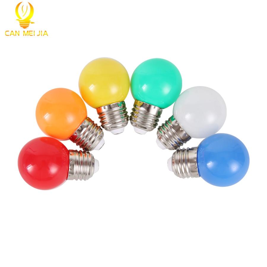 Bombilla Led E27 colorida de 3 W, Bombilla de ahorro de energía, blanca, roja, azul, verde, amarilla, naranja, rosa, Bombilla led, lámpara para iluminación del hogar