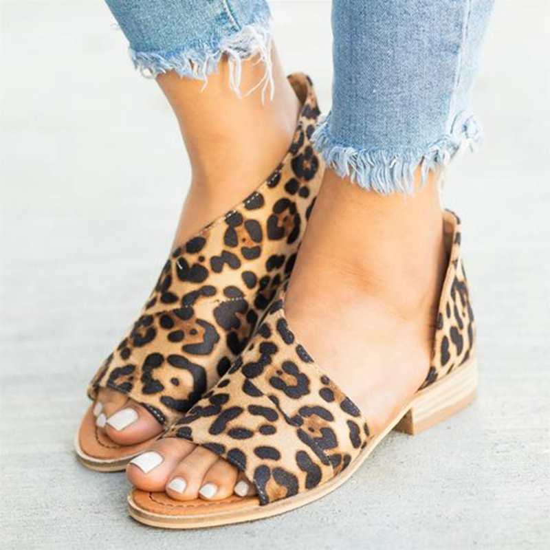 WENYUJH Mujer calzado Chaussure verano Casual Zapatos Mujer Sandalias Peep Toe grueso tacones bajos bombas damas Mujer