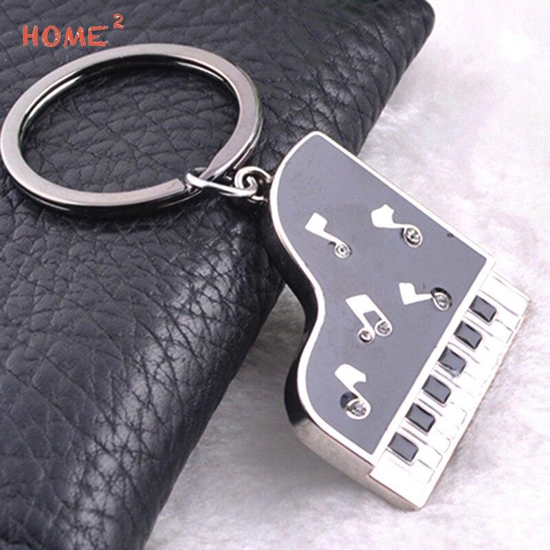 Porte-clés style voiture porte-clés Piano Note de musique porte-clés pour Abarth Buick Chrysler Mazda Citroen Volvo Alfa Romeo Daihatsu ISUZU