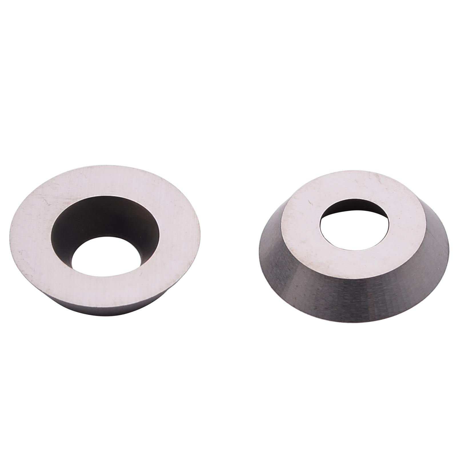 "Купить с кэшбэком 10pcs High Strength Round Carbide Cutter Insert 1/2"" 12x2.5mm Fits For Ci3 Wood Turning Tools"