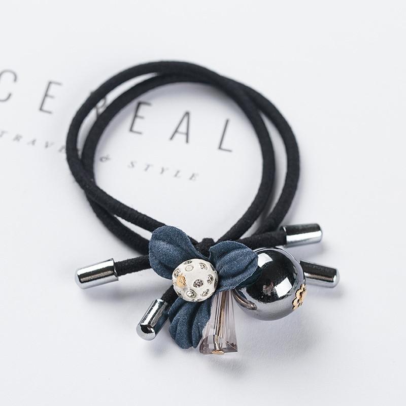 1 pçs adorável trevo cinza bola faixas de cabelo elástico durag hairpins 2020 scrunchie coreano acessórios para o cabelo do bebê
