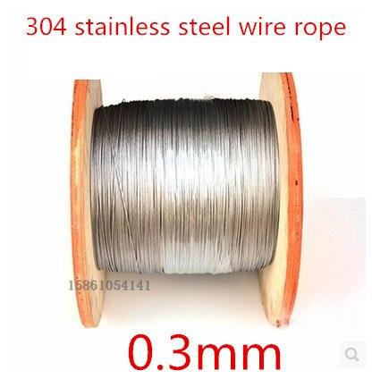 0,3mm Edelstahl 304 Drahtseil/Angeln Seil/Extra feine draht/Form Seil 0,3mm 1*7 100 Meter