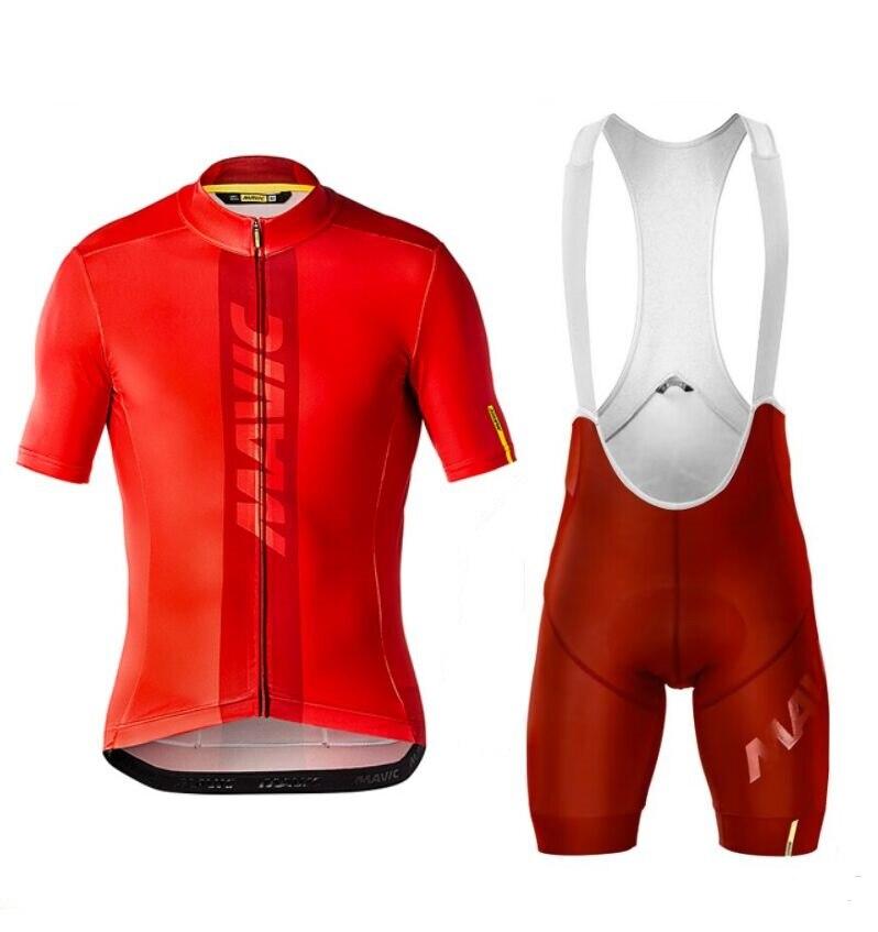 Mavic-Conjunto de ropa de ciclismo para hombre, Maillot de manga corta, pantalones...