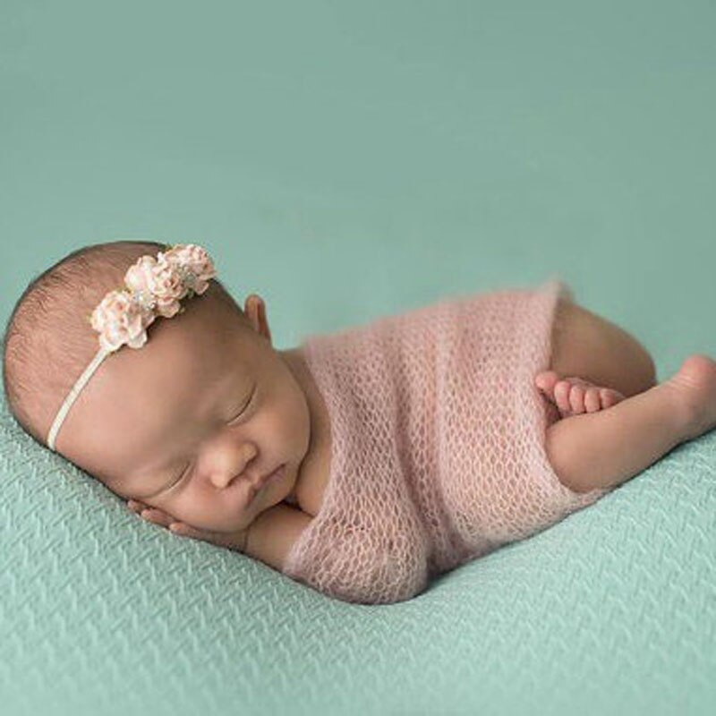 Cesta de manta de piel sintética para bebé, accesorios de fotografía infantil, Fondo de Manta para bebé recién nacido de 40*60cm