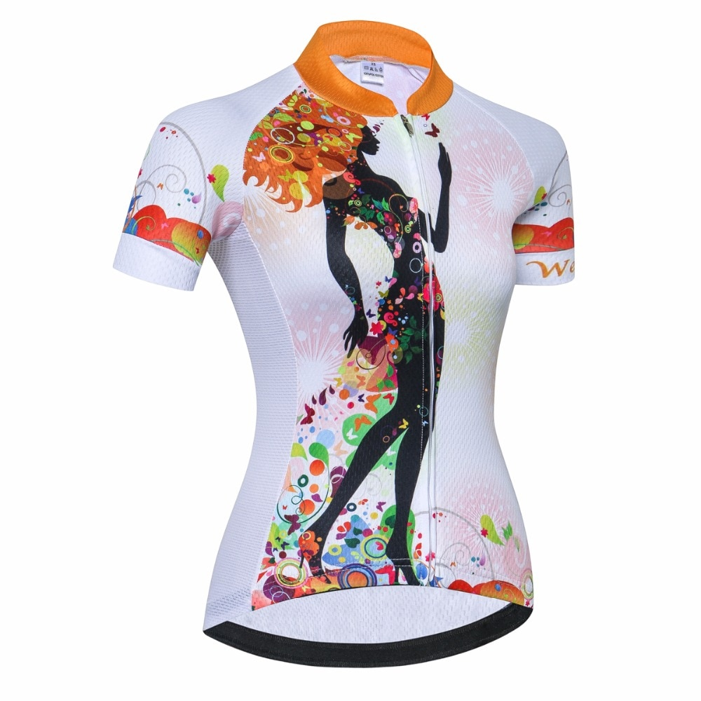 Cycling Jersey women Bike Jerses 2019 road MTB bicycle Short Sleeve Outdoor sportswear maillot Racing top Shirt breathable white