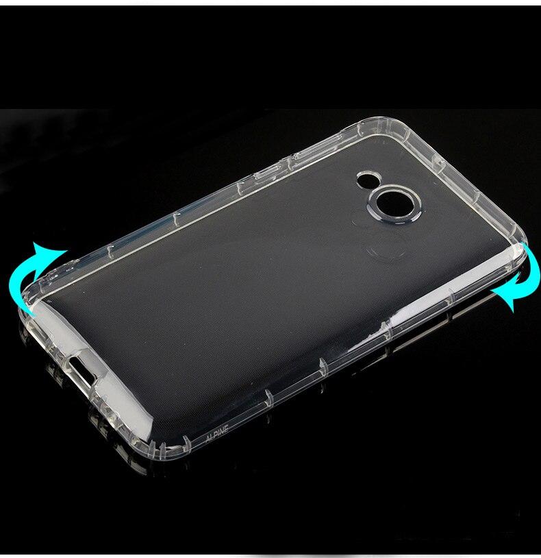 Transparente a prueba de golpes a prueba Anti-deslizante gel piel TPU suave cubierta de la caja para HTC U Play
