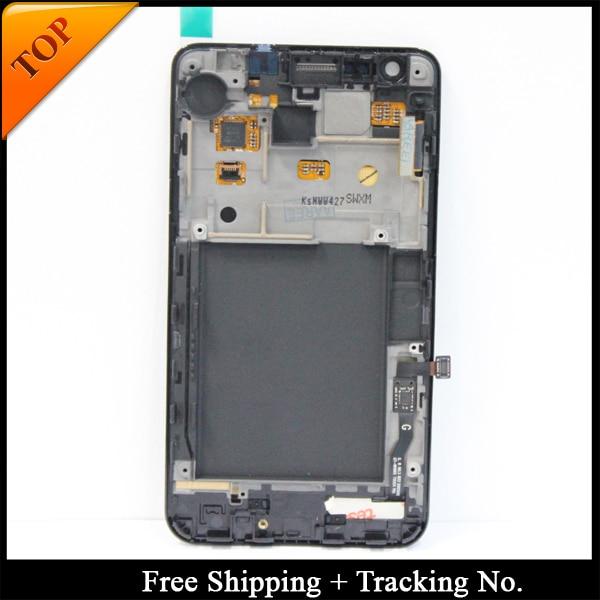 100% testado Garantia Super AMOLED Para SAMSUNG i9100 LCD para Samsung S2 S2 Tela LCD de Toque Digitador Assembléia com frame