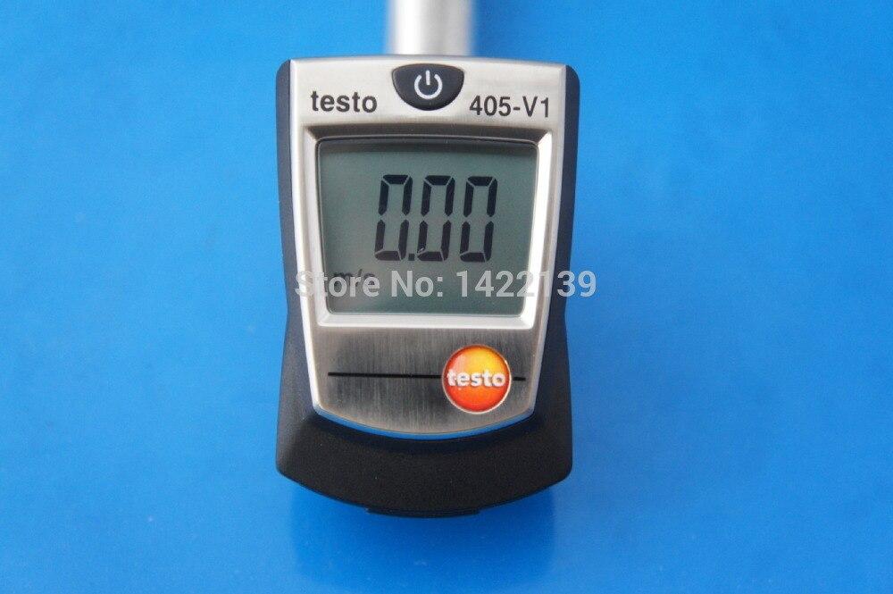 جديد Testo 405-V1 البسيطة الساخن سلك الحرارية مقياس شدة الريح تستر 0 إلى + 10 متر/الثانية