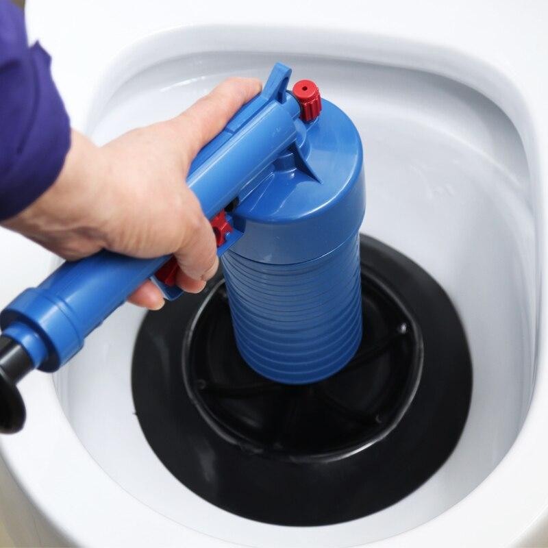 Air Power Drain Blaster Pistole Hohe-Druck Leistungsstarke Manuelle Waschbecken Kolben Opener Reiniger Pumpe Für Bad Toiletten Bad Zeigen