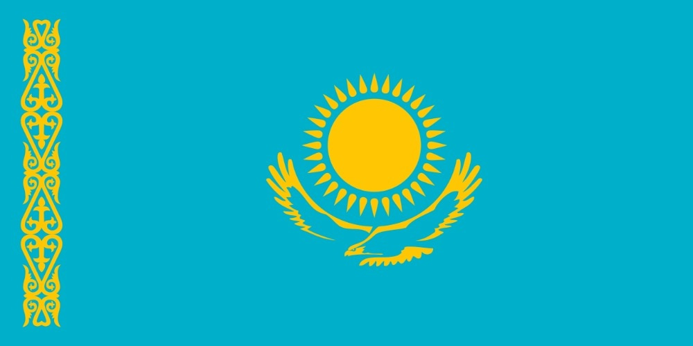 Loja 60*90 Jisper cm 90*150 cm 120*180 cm KAZ Da República do Cazaquistão Cazaquistão bandeira nacional