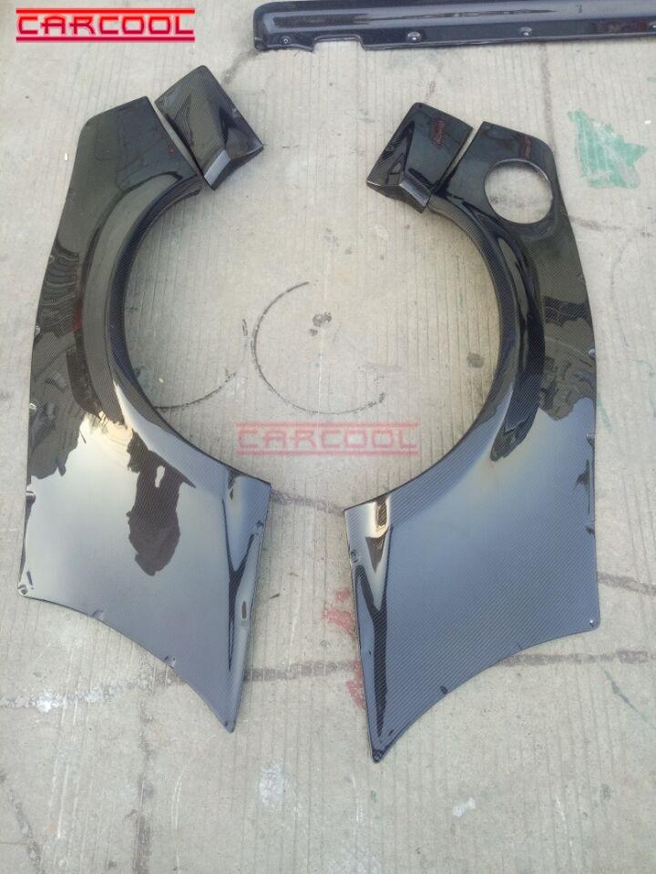 Estilo do carro CF Traseiro Fender Asa 4 pcs Bodykit Para Fibra De Carbono GT86 Foguete Coelho V1 RB