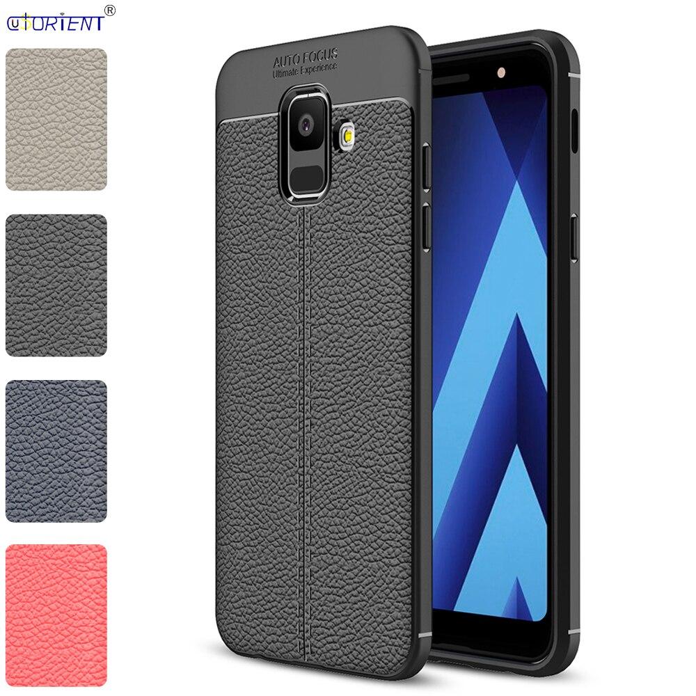 Para Samsung Galaxy A6 2018 cubierta de parachoques SM-A600FN/DS silicona suave caja mate del teléfono SM-A600FN SM A600FN/DS fundas traseras a prueba de golpes