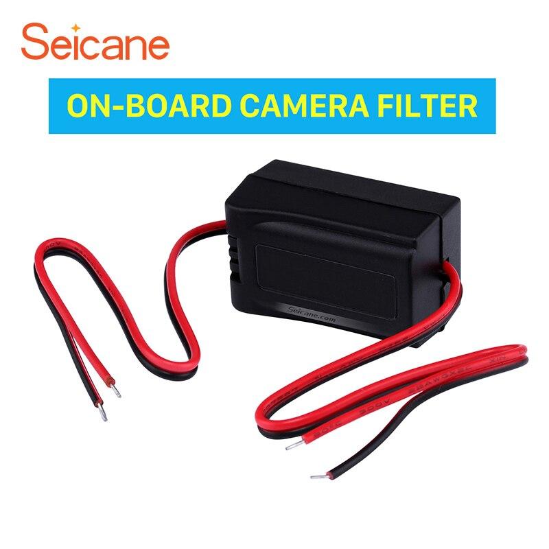 Seicane, actualización de Cables de vídeo reverso de Vista trasera del vehículo, condensador adaptador de filtro de cámara a bordo, envío gratis, fácil de instalar