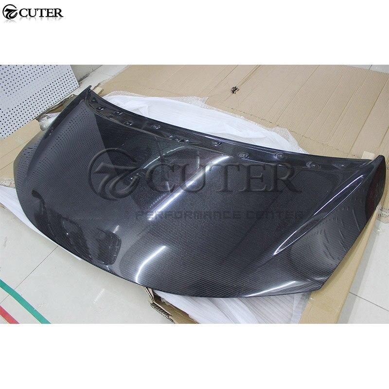 Pour Honda Fit capot de moteur en Fiber de carbone Bonnets moteur couvre kit de carrosserie de voiture de style Original 13-18