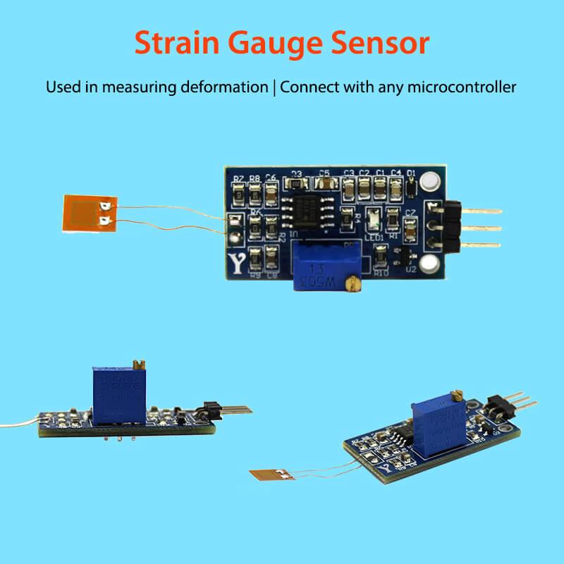 Elecrow Strain Gauge Sensor Bending Modules Weighing Amplifier Voltage Output Electronic Pressure Gauge Shield Module DIY Kit