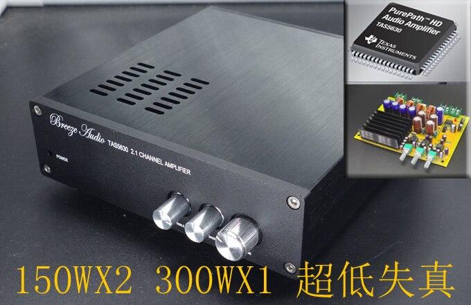 2019 brisa de Audio SL1 TAS5630 2,1 Canal Digital amplificador de Audio 150W * 2 + 300W * 1 salida de Subwoofer Individual ajuste de volumen