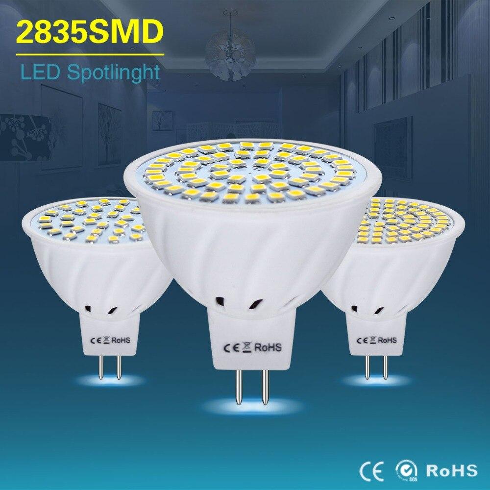 Mr16 lámpara led AC/DC 12V 24V bombilla led mr 16 gu5.3 4w 6w 8w led proyector smd2835 lámpara de ahorro energético para la lámpara de araña lampada