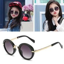 Lunettes de soleil Anti-uv pour enfants   Rondes, à la mode 2017, lunettes de soleil pour bébés Vintage, UV400, Cool pour filles