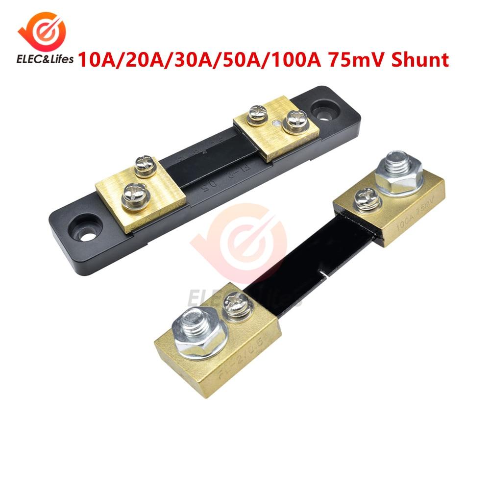 AliExpress - 1Pcs External Shunt FL-2 100A 50A 30A 20A 10A /75mV Current Meter Shunt Resistors 50A/75mV AMP for Digital Voltmeter Ammeter