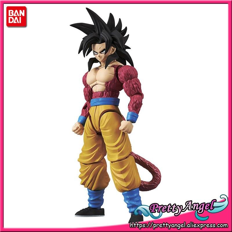 PrettyAngel-figurine Bandai véritable-montage Standard Dragon Ball GT Super Saiyan 4 fils Goku figurine en plastique modèle daction