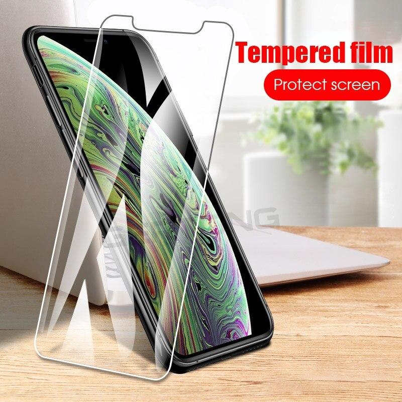 Protetor de tela hd 9 h vidro temperado para iphone xs max xr 6 6 s 7 8 plus x 5 5S se 4 4S para ipod touch 5 6 filme temperado