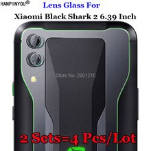 "2 sets/partij Voor Xiaomi Black Shark 2 6.39 ""Soft Fiber Helder Gehard Glas Back Camera Lens Flash Licht Scherm protector Film"