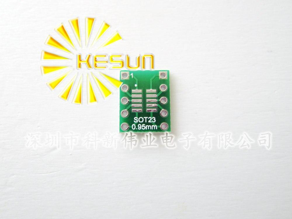 Envío Gratis 20 piezas SOT23/SOP10 MSOP10 UMAX10 a DIP10 0,5 MM 0,95 MM adaptador de circuito integrado hembra/Adaptador/placa/PCB PB-FREE