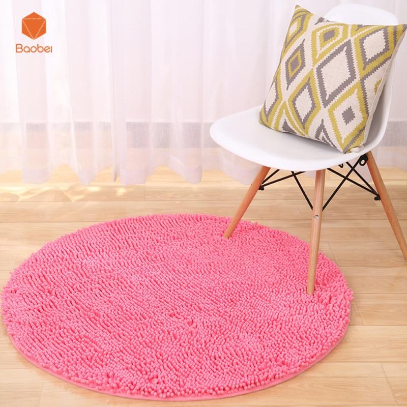 Thicking красные круглые ковры для дома, гостиной, спальни, напольный ковер для кабинета, коврик для компьютерного кресла, подвесные корзины, ко...