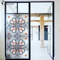 1pc frosted stained style privacy window bath door film glass sticker office glass door sticker 4590cm60100cm