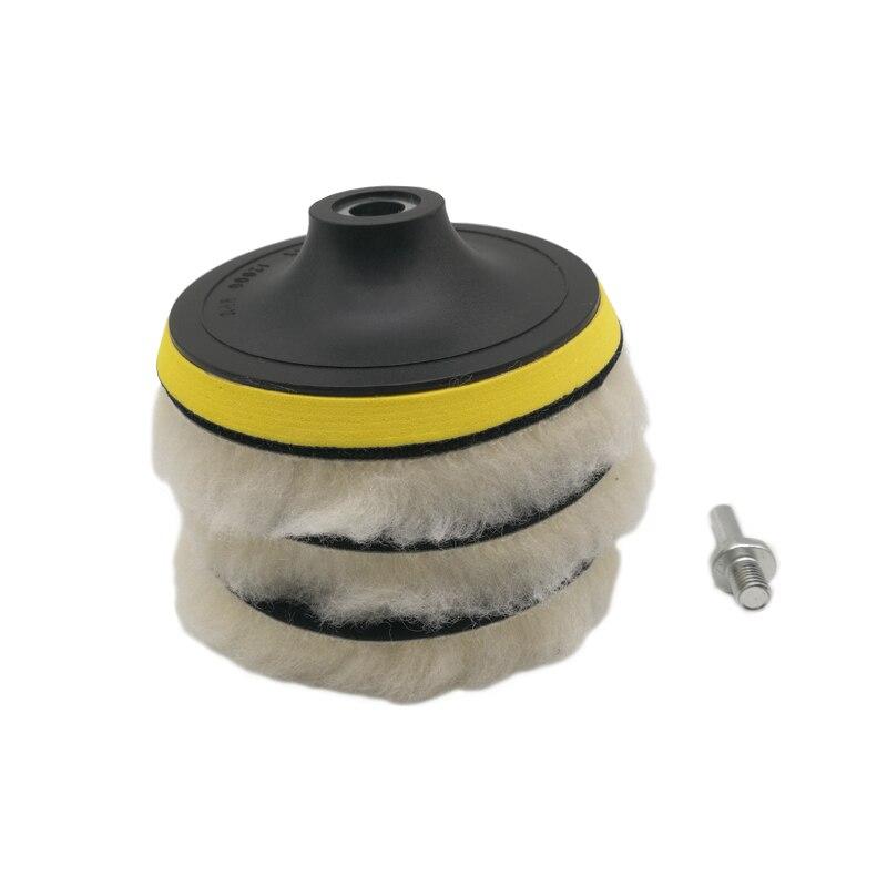 Набор полировочных подушек для полировки, полировщик дисков для воска с адаптером для сверления, уход за краской для автомобиля, 5 шт.